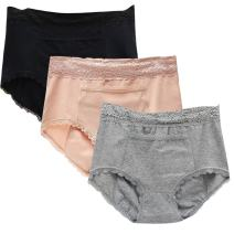 Sept.Filles Womens Invisible Panties Cycles-Period Leakproof Panties Packs of 5