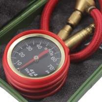 Tire Pressure Gauge Expert 70 PSI - Heavy Duty Tire Gauge ANSI Certified Accurate, Improved Needle and Chuck