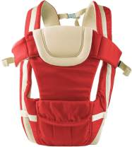 GPCT Hands Free Shoulder Travel Baby Child Carrier. 4 Carrying Positions, Waist/Back/Head Support, Safety Buckles, Adjustable Straps Infants Babies Toddlers Newborns Wrap Carrier- Men/Women- Red