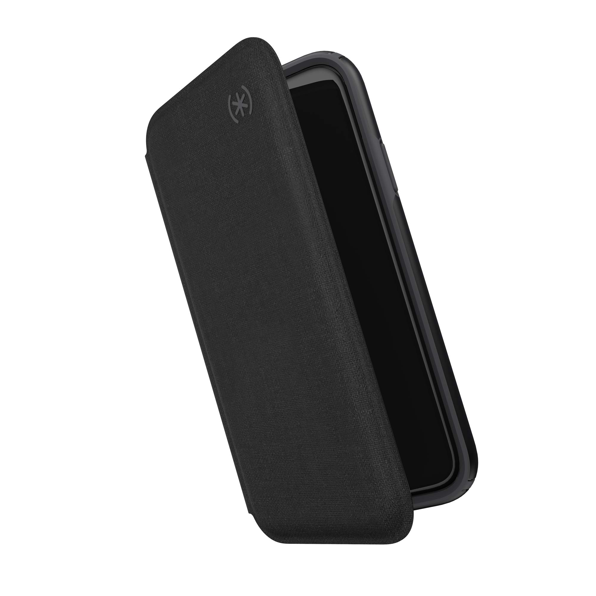 Speck Presidio Folio iPhone 11 Case, Heathered Black/Black/Slate Grey