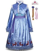 Tinyones Little Girls Princess Costume Cosplay Dress Up with Accessories