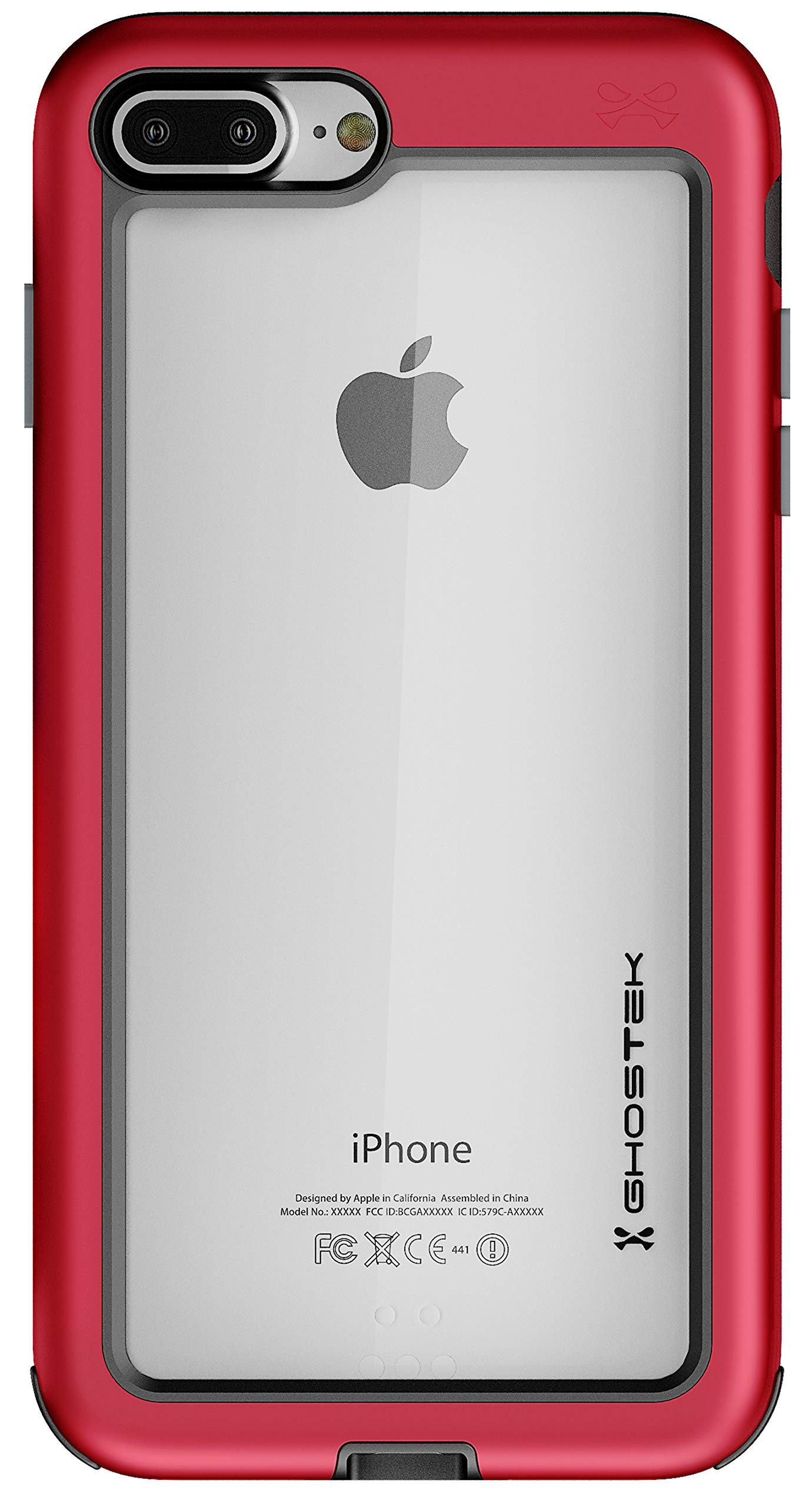 Ghostek Atomic Slim Series for iPhone 7 Plus, iPhone 8 Plus - (Red)