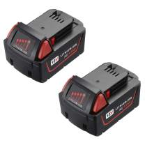 18V Battery 4.0Ah M-18 Lithium ion Battery Compatible with Milwaukee M-18 Xc 48-11-1850 48-11-1815 48-11-1820 48-11-1852 48-11-1828 48-11-1822 48-11-1811 Cordless Tools Battery (2-Pack)