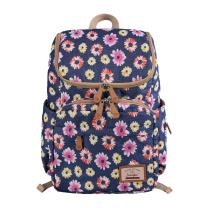 Floral Print Diaper Backpack Large Capacity Nappy Bags Multi-Functional Mummy Travel Backpack for Baby Care, Stroller Straps,Changing Pad