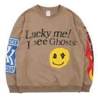 NAGRI Kanye Lucky Me I See Ghosts Trendy Hip Hop Men's Heavyweight Sweatshirts Hoodie