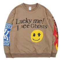 NAGRI Kanye Lucky Me I See Ghosts Trendy Hip Hop Men's Heavyweight Sweatshirts Hoodie