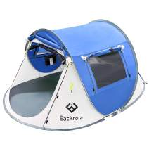 Eackrola 2-Person-Tent, Instant Pop up Tent for Camping, Easy Setup Beach Tent Sun Shelter - Ventilated Mesh Windows, Water Resistant, Carry Bag Included