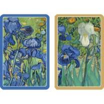 Caspari Van Gogh Irises Playing Cards - 2 Decks Included