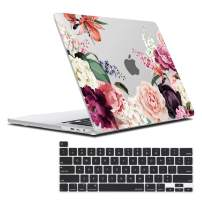 MacBook Pro 16 inch Case 2019 Release A2141, Plastic Hard Shell Case with Keyboard Cover for MacBook pro 16 inch, Skin for New 16 inch MacBook Pro Case, Pink Rose Flower