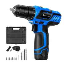 """12V Cordless Drill Driver Set, PROSTORMER 3/8"""" Compact Drill Max Torque 247 In-lbs, 2-Speed, 18+1 Torque Setting, 2.0Ah Lithium-ion Battery and Quick Charger Included"""