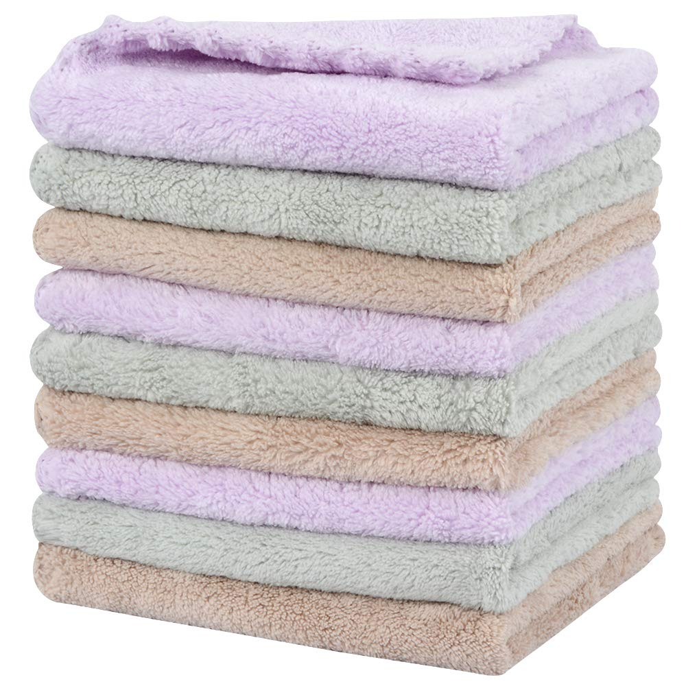 SUNLAND Microfiber Face Cloth Makeup Remover Cloth Reusable Facial Cleansing Towel Ultra Soft Face Washcloth 11inchx 11inch 9 Pack