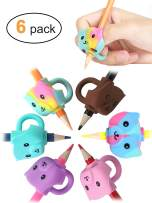 JARLINK 6 Pack Pencil Grips for Kids Handwriting, Ergonomic Writing Training Aid Grip, Correction Finger Grip for Kids, Adults
