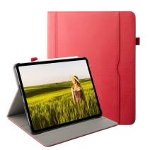 Grifobes iPad Pro 12.9 Case 2018, [Support Apple Pencil Charging] Premium Leather Slim Stand Folio Cover Protective Case with Auto Sleep/Wake for 2018 iPad Pro 12.9-inch 3rd Generation (red)