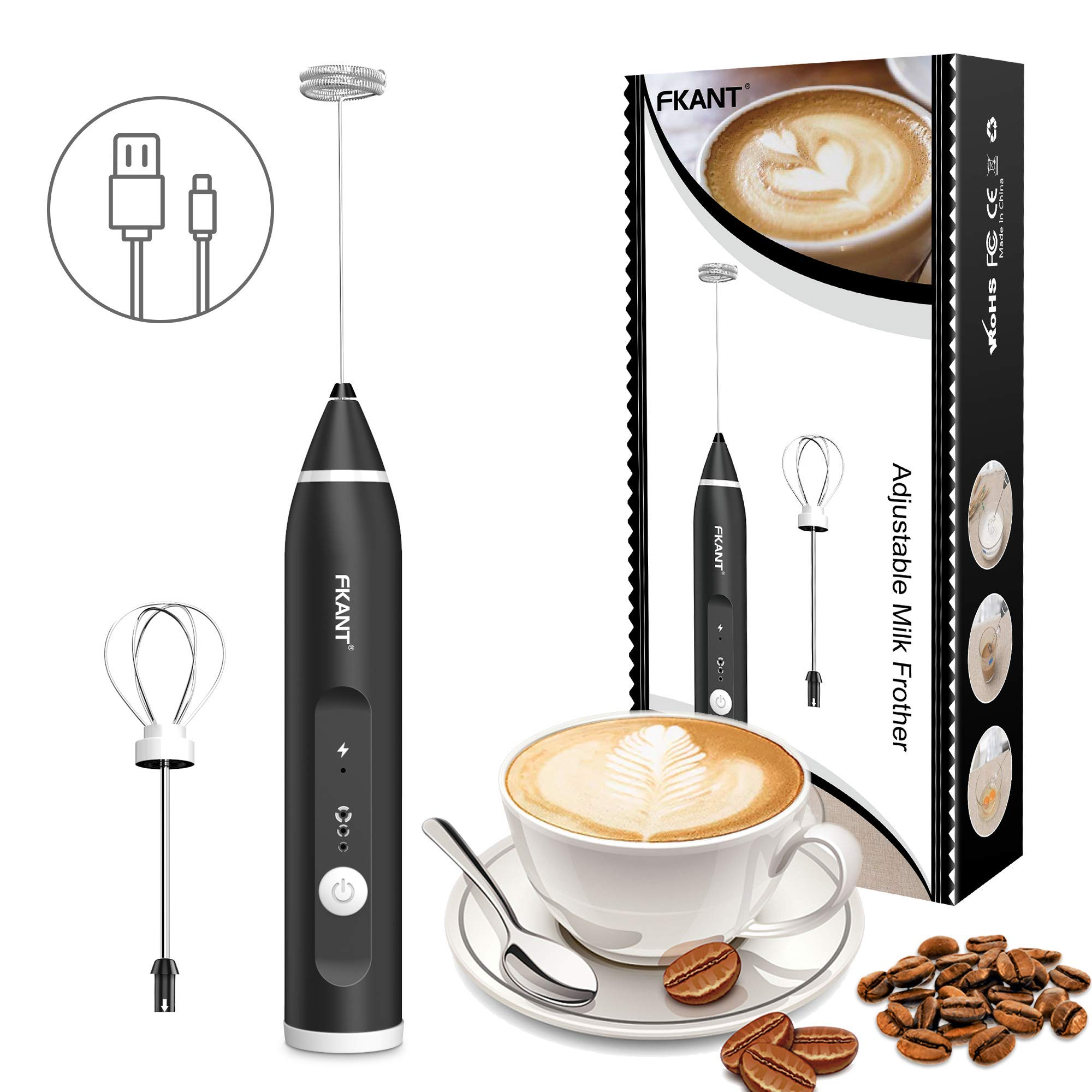3-Speed Adjustable Mini Drink Mixer for Bulletproof Coffee Latte ...