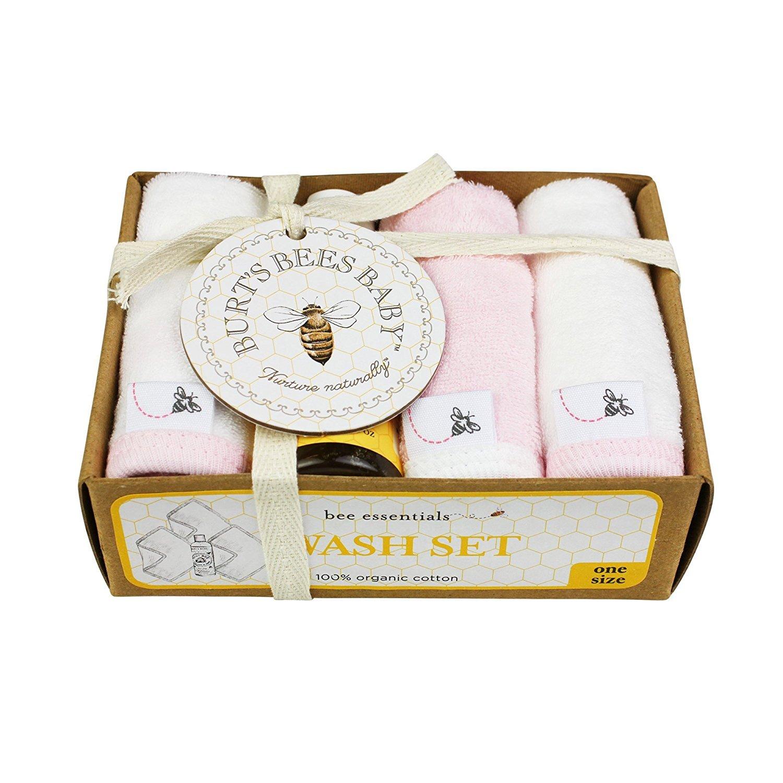 Burt's Bees Baby Organic Washcloth Gift Box, Blossom