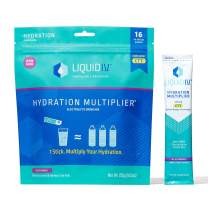 Liquid I.V. Hydration Multiplier, Electrolyte Powder, Easy Open Packets, Supplement Drink Mix (Acai Berry) (192)