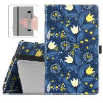 Dadanism Folio Case Fits All-New Amazon Kindle Fire 7 Tablet (9th Generation, 2019 Release Only), Premium PU Leather Lightweight Slim Shockproof Smart Stand Cover with Auto Wake/Sleep - Tulip Blue