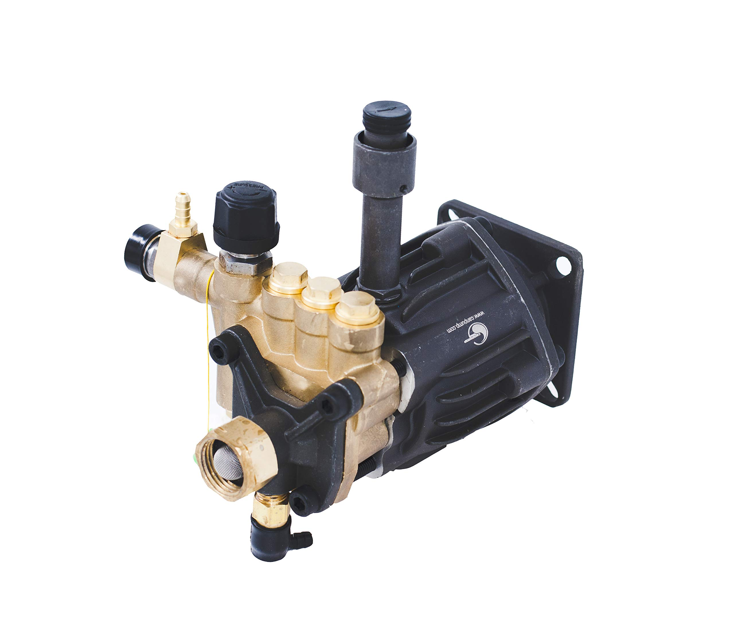 "CANPUMP Axial High Pressure Washer Pump 2700 psi 6.5 HP 3/4"" Shaft fits Cat General AR"