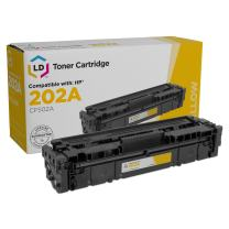 LD Compatible Toner Cartridge Replacement for HP 202A CF502A (Yellow)