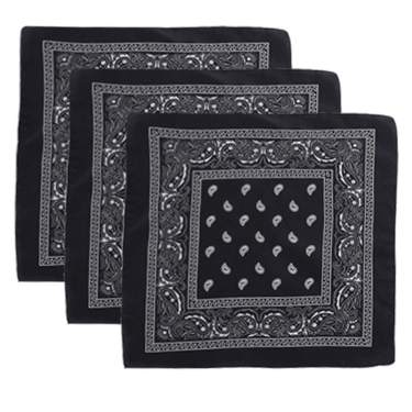 6 Colors Bandanas for Men and Women Handkerchiefs for Men Paisley Cowboy Head Bandanas Bandana Headband for Women