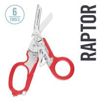 LEATHERMAN, Raptor Emergency Response Shears with Strap Cutter and Glass Breaker, Red with MOLLE Compatible Holster