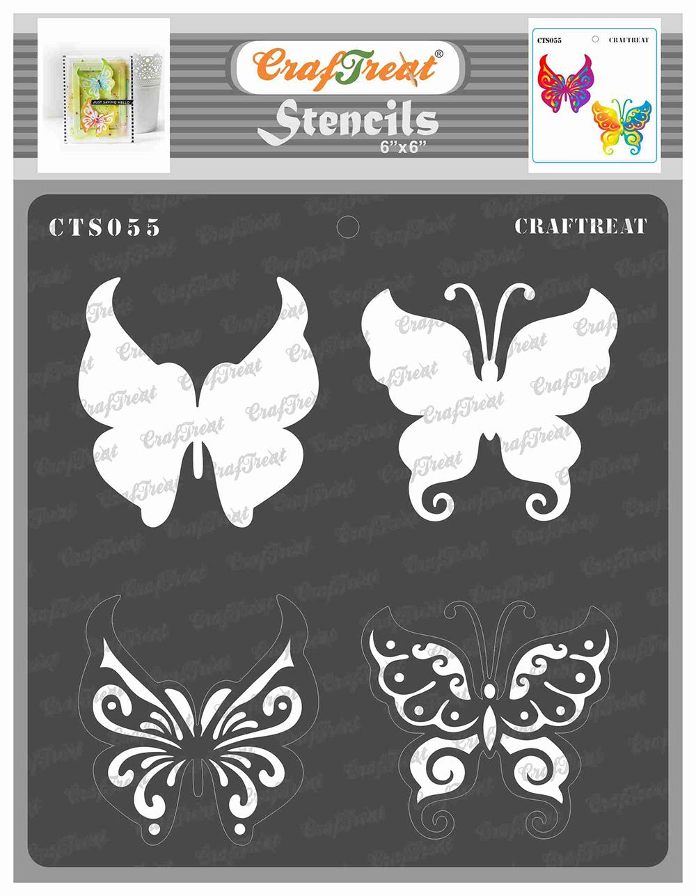 CrafTreat Flower Basket Wall Stencils for Painting Large Pattern Reusable DIY Art and Craft Stencils Flower Stencils for Walls 12x12 Inches Best Wishes Flower Bouquet Stencil