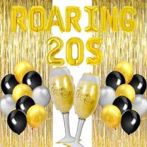 Roaring 20s Party Decorations Kit - Great Gatsby Party Supplies Balloons for Roaring 20s Flapper Party Birthday Bachelorette Anniversaries