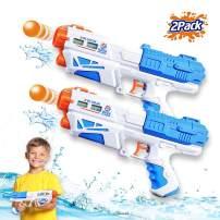 ZHENDUO 2Pcs Water Gun, Super Soaker Water Guns Power Popper Gun 500CC Squirt Guns Water Pistol Water Blaster Toys for Boys Girls Swimming Pool Toys Water Fighting Toy Boys Girls Outdoor Games