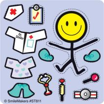 Make-Your-Own Medical Smiley Stickers - 100 Per Pack