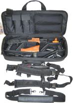 Explorer Mojo Tactical Rifle Case – AR15 Case with Pockets for Magazines, Pistols, Rifle Accessories, Police & Military Gear – Backpack or Shoulder Gun Carrying Bag for Paintball, Airsoft, More