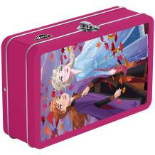 Find It Tin 3D Pencil Box and School Supplies Storage, Anna and Elsa (FT07066)