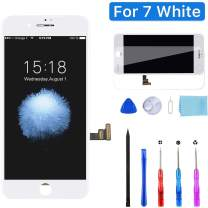YPLANG Screen Replacement for iPhone 7 Screen Replacement White LCD Display Digitizer Frame Assembly Full Repair Kit, with Repair Tools and Flowchart