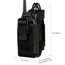 Viperade Versatile Radio Holder Case Interphone Pouch, Adjustable Storage Tools Pouch, Multi-Functional Tactical Molle Two Way Radio Holster, Walkie Talkie Heavy Duty Holder Case