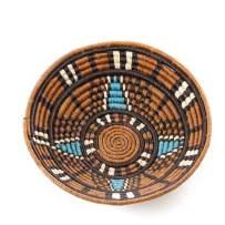 African Basket Kukua Star Raffia Fruit or Display Home Decor