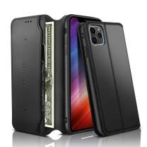 iPhone 11 Pro Wallet Case, REALIKE iPhone 11 Pro Case PU Leather iPhone 11 Pro Flip Cover Case with Card Slot Holder Pocket Shockproof Protection Magnetic Closure Case for Men and Women - Black