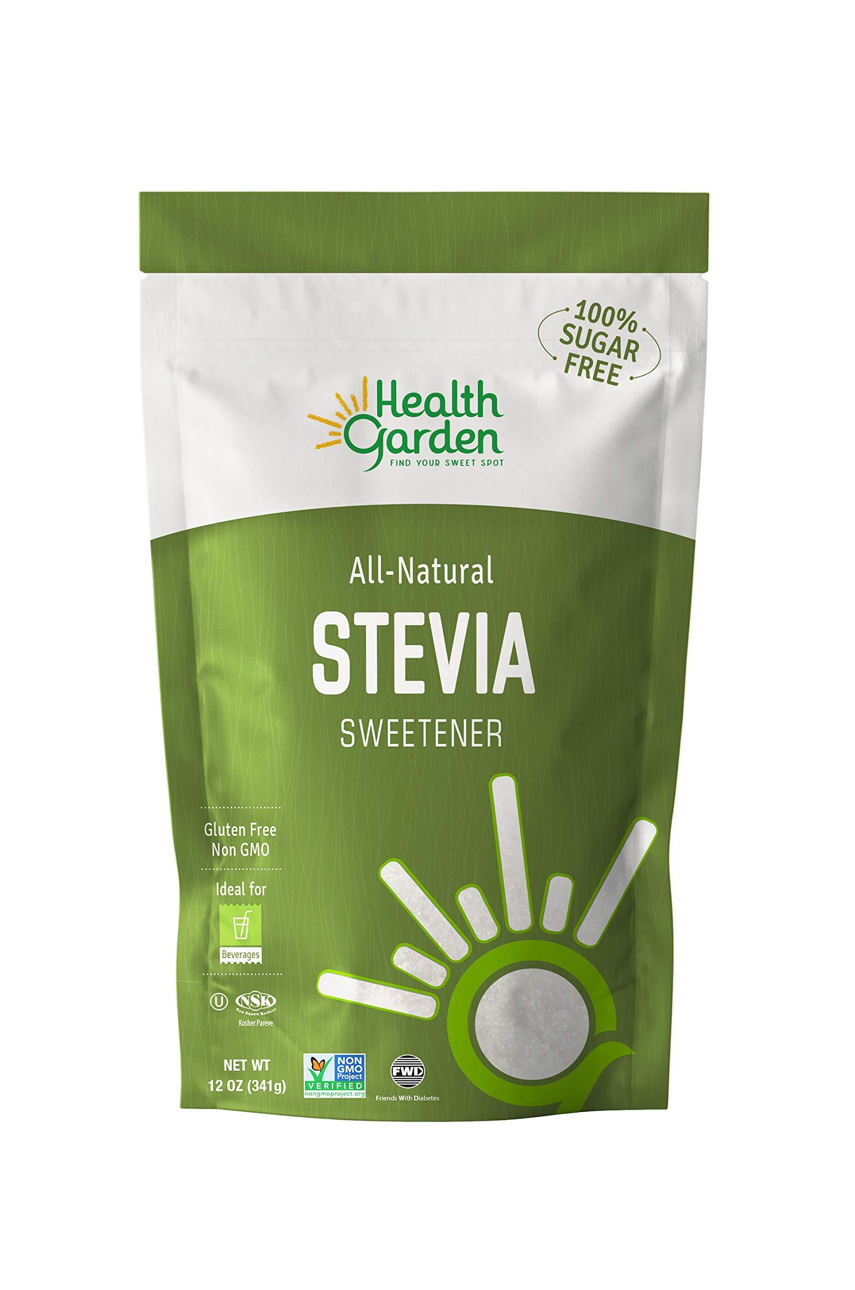 Health Garden Stevia Sweetener Powder - All Natural - Kosher - Gluten and Sugar Free - Keto Friendly (12 oz)