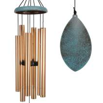 Wind Chimes Outdoor Deep Tone,35'' Memorial WindChimes Melody with Tuned Soothing Tone,Remembrance Windchime Unique As Sympathy Gift,Home Décor for Garden,Christmas.(Retro Wind Catcher)