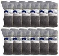 Yacht & Smith Men and Women Value Pack of Ring Spun Cotton Crew Diabetic, Nephropathy Socks (10-13, 12 Pairs Gray)