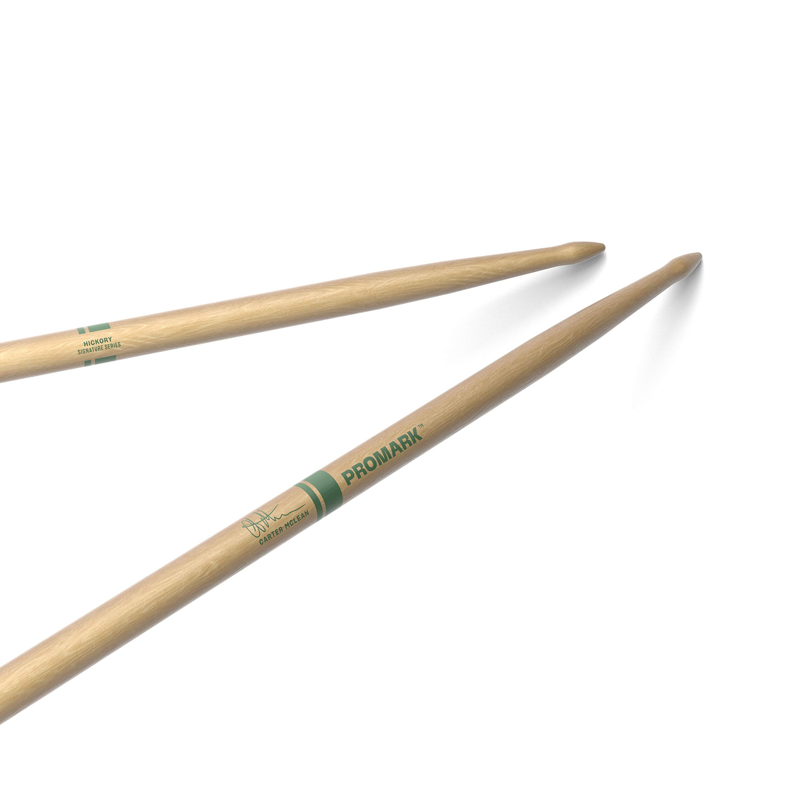 ProMark Carter McLean Hickory Drumsticks, Wood Tip, One Pair