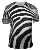 Yizzam Men's AnimalShirtsUSA- Zebra Skin -Tagless- T-Shirt