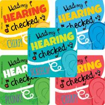 SmileMakers Hearing Tested Stickers - Prizes 100 per Pack