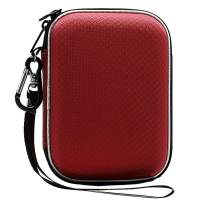 Lacdo Hard Drive Carrying Case for Western Digital WD My Passport Ultra WD Elements SE WD P10 Game Drive Portable External Hard Drive 1TB 2TB 3TB 4TB 5TB USB 3.0 2.5 inch HDD Travel Storage Bag, Red