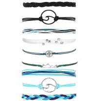 choice of all Summer String Wave Bracelets Adjustable Friendship Strand Bracelet For Women Girls Jewelry