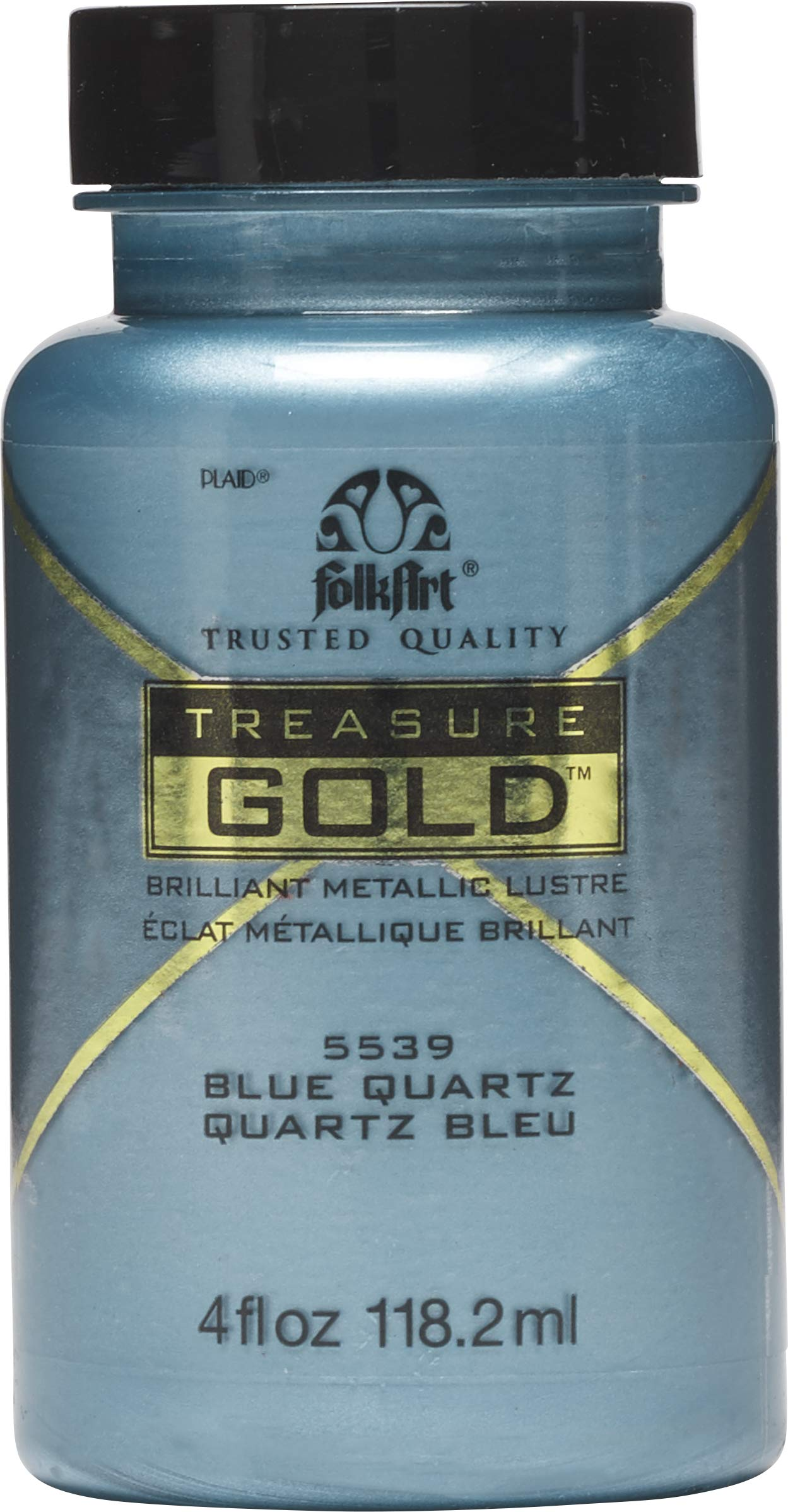 FolkArt Treasure Gold Brilliant Metallic Paint, 4 oz, Blue Quartz