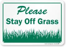 "SmartSign ""Please Stay Off Grass"" Sign 