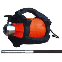 "TOMAHAWK Concrete Vibrator Electric With 10ft Concrete Vibrator Flex Shaft Cable Whip Backpack 14000 Vibrations per Minute Construction Remove Air Bubbles Cement 1"" Head 2 HP"