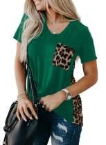 AlvaQ Womens Summer Loose Crewneck Short Sleeve Tops Graphic Print Shirts S-XXL