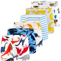 BOOPH Boys Boxer Briefs Shorts Cotton Dinosaur Robot Toddler Underwear for 2-11Y
