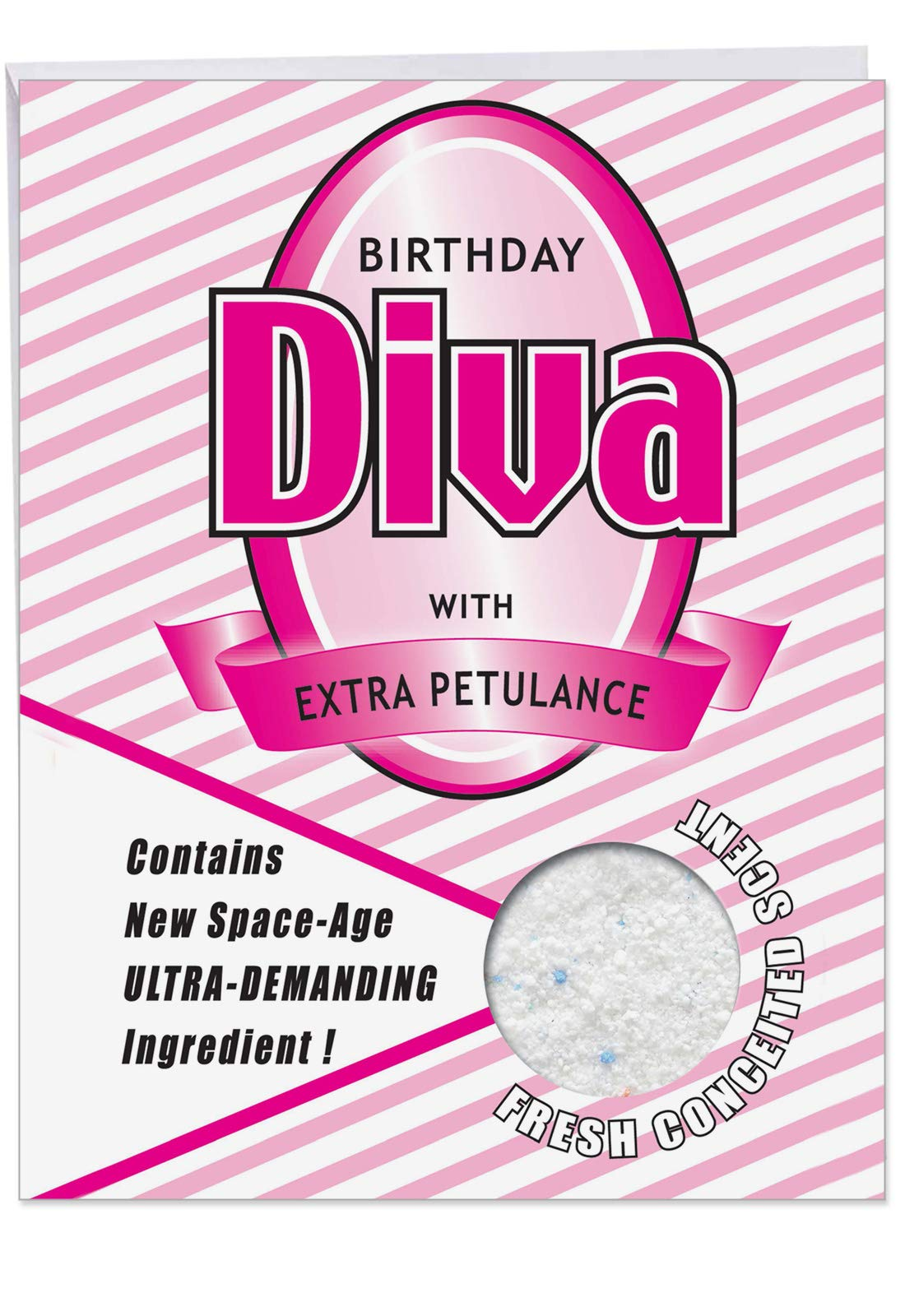 Birthday Diva - Funny Happy Birthday Card with Envelope (Extra Large 8.5 x 11 Inch) - Big, Humorous and Sassy Bday Greeting Card for Girls, Divas - Hilarious Stationery Notecard J5198