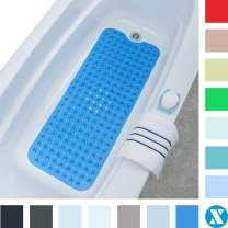 """SlipX Solutions Blue Extra Long Bath Mat Adds Non-Slip Traction to Tubs & Showers - 30% Longer Than Standard Mats! (200 Suction Cups, 39"""" Long Bathtub Mat)"""